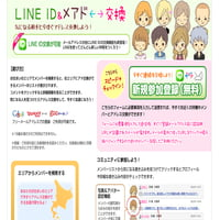 Line ID&メアド交換